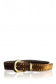 Kocca | Velvet belt Dimpa | brown  | Picture 1