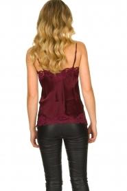 Gold Hawk | Silk top Elin | burgundy  | Picture 4