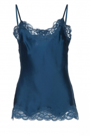 Gold Hawk |  Silk top Elin | blue  | Picture 1