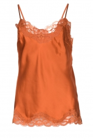 Gold hawk |  Silk top Elin | orange