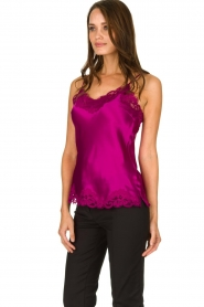 Gold Hawk |  Silk top Elin | pink  | Picture 4