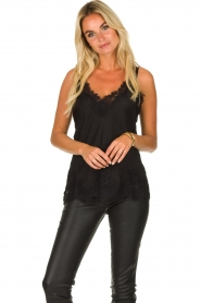 Gold Hawk | Silk top Elin Racerback | black  | Picture 2
