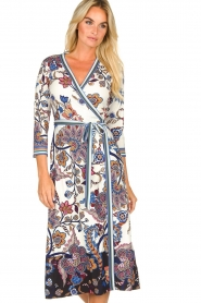 Hale Bob |  Floral wrap dress Zetta | white  | Picture 4