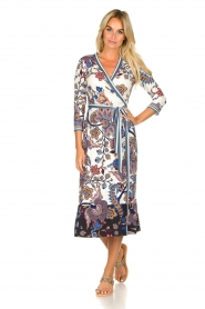 Hale Bob |  Floral wrap dress Zetta | white  | Picture 3