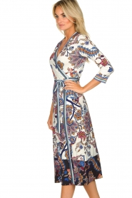 Hale Bob |  Floral wrap dress Zetta | white  | Picture 5
