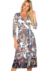 Hale Bob |  Floral wrap dress Zetta | white  | Picture 2