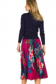 Hale Bob |  Floral plisse midi skirt Swanhild | red  | Picture 5