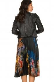 Hale Bob |  Floral plisse midi skirt Swanhild | black  | Picture 5
