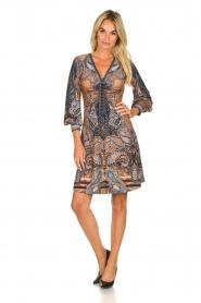 Hale Bob |  Paisley print dress Wave | camel  | Picture 3