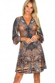 Hale Bob |  Paisley print dress Wave | camel  | Picture 2