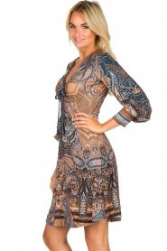 Hale Bob |  Paisley print dress Wave | camel  | Picture 4