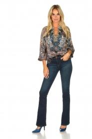 Hale Bob |  Silk top with paisley print Cornelia | camel  | Picture 3