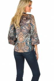 Hale Bob |  Silk top with paisley print Cornelia | camel  | Picture 5