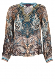 Hale Bob |  Silk top with paisley print Cornelia | camel  | Picture 1