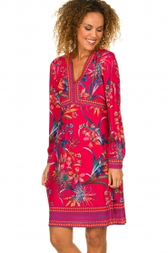 Hale Bob |  Floral dress Anafa | red  | Picture 4