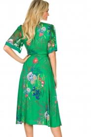 Hale Bob |  Floral wrap dress Velda | groen  | Picture 7