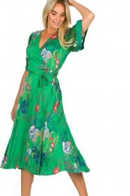 Hale Bob |  Floral wrap dress Velda | groen  | Picture 5