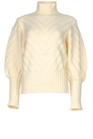 Silvian Heach |  Turtleneck sweater Tapajos | off-white  | Picture 1