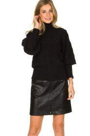 Silvian Heach |  Turtleneck sweater Tapajos | black  | Picture 2