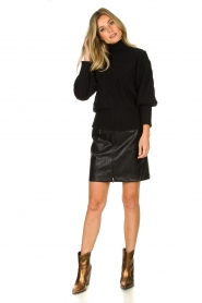 Silvian Heach |  Turtleneck sweater Tapajos | black  | Picture 3