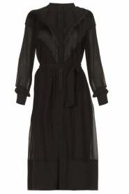 Silvian Heach | Dress with fringe Acaray | black  | Picture 1