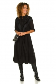 Silvian Heach | Dress with fringe Acaray | black  | Picture 4