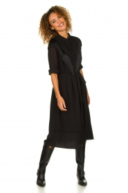 Silvian Heach | Dress with fringe Acaray | black  | Picture 2