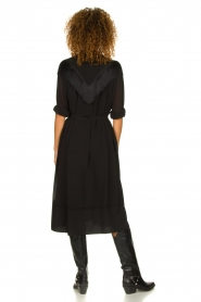 Silvian Heach | Dress with fringe Acaray | black  | Picture 5