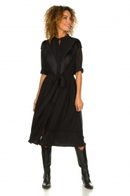 Silvian Heach | Dress with fringe Acaray | black  | Picture 3