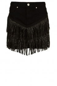 Silvian Heach | Skirt with fringes Taibir | black  | Picture 1