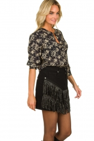 Silvian Heach | Skirt with fringes Taibir | black  | Picture 4