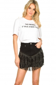 Silvian Heach | Skirt with fringes Taibir | black  | Picture 7