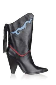 Silvian Heach | Leather boots Cowstar | black  | Picture 1