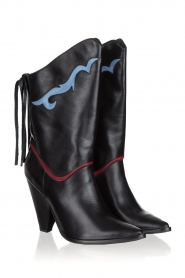 Silvian Heach | Leather boots Cowstar | black  | Picture 3