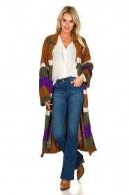 Antik Batik | Knitted cardigan Gina | brown  | Picture 6