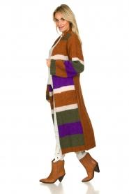 Antik Batik | Knitted cardigan Gina | brown  | Picture 4