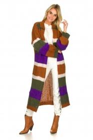 Antik Batik | Knitted cardigan Gina | brown  | Picture 2