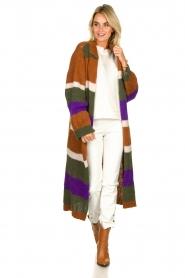 Antik Batik | Knitted cardigan Gina | brown  | Picture 3