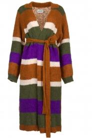 Antik Batik | Knitted cardigan Gina | brown  | Picture 1