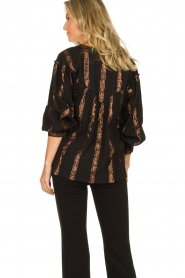 Antik Batik |  Striped blouse Julia | black  | Picture 5