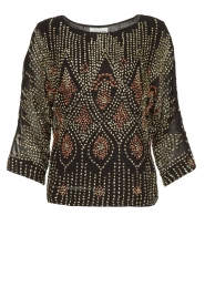 Antik Batik |  Embellished top Emilie | black  | Picture 1