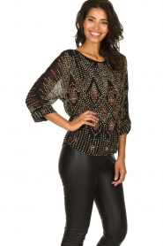 Antik Batik |  Embellished top Emilie | black  | Picture 4