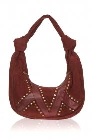 Antik Batik |  Suede shoulder bag Kairo - small | red  | Picture 1