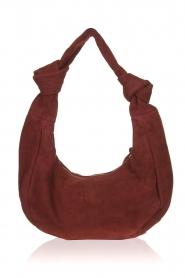 Antik Batik |  Suede shoulder bag Kairo - small | red  | Picture 3