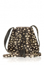 Antik Batik |  Leather mini bucket bag West | black  | Picture 1
