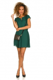 Patrizia Pepe |  Dress with elastic waist Sacha | green  | Picture 3
