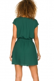 Patrizia Pepe |  Dress with elastic waist Sacha | green  | Picture 6