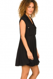 Patrizia Pepe |  Dress with pleated skirt Lucie | black  | Picture 5