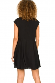 Patrizia Pepe |  Dress with pleated skirt Lucie | black  | Picture 6