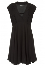 Patrizia Pepe |  Dress with pleated skirt Lucie | black  | Picture 1